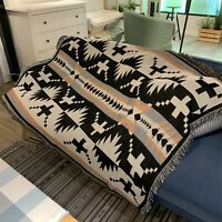 Navajo Sofa Cover Rug Cotton Throw Blanket Bedcover Wall Tapestry Floor Mat
