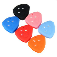 3 Button Silicone Remote Key Fob Cover Case For Toyota Yaris RAV4 Camry Corolla