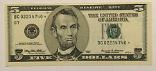 1999 $5 FIVE DOLLARS CHICAGO* STAR * 🌟 FRN, CRISP, NEW & UNCIRCULATED BANKNOTE
