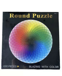 1000 Pieces Round Colourful Rainbow Jigsaw Puzzle Educational Adult Kids DIY Toy
