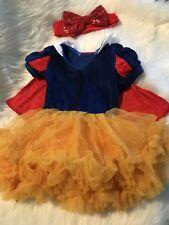 Snow White inspired princess VELVET Tutu dress FREE HAIR BOW NEW 2t 3t 4t
