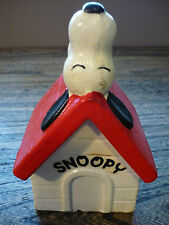 Vintage 1970 Snoopy on Dog House Coin Bank - Peanuts - United Features Syndicate