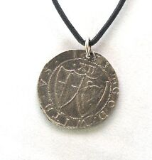 Commonwealth Shilling (1653) Coin Pendant, Pewter, Handmade, English Civil War