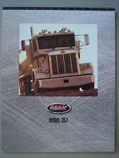 PETERBILT  Model 357  Prospekt/brochure  02-1998.