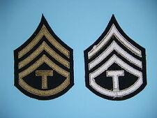 1094p US Army & Air Force T-3 Technician 3rd Grade third Chevrons OD pair R1C