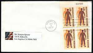 US FDC, SC#1469, Man's Quest for Health, Osteopathic Medicine, No Cachet, 1972