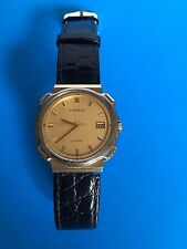 Lassale Watch Two Tone Non Working Black Band Vintage Mens Womans They 80s?