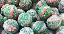 Fizz Balls Watermelon Sweets Hard Boiled Red Green Fruit Unwrapped VEGETARIAN