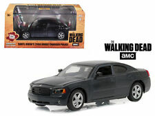 """DARYL DIXON'S 2006 DODGE CHARGER POLICE """"THE WALKING DEAD"""" 1:43 GREENLIGHT 86505"""