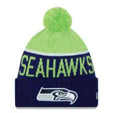 e193791c292 Seattle Seahawks New Era NFL Official On-Field Sideline Pom Knit Winter Hat