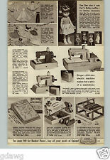 1965 PAPER AD Doll Dee Dee Mattel Sewing Machine Toy Singer Sewmaster Barbie