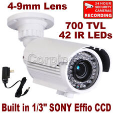 Security Camera w/ SONY EFFIO CCD 700TVL 42 IR LEDs Night Outdoor 4-9mm Lens WG4