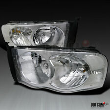 2002-2005 Dodge RAM 1500 2500 3500 Pickup Crystal Clear Head Lights Lamps Pair