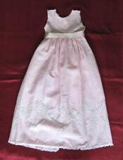 19C. ANTIQUE HANDMADE COTTON & LACE CHILD DRESS w/MOTHER OF PEARL BUTTONS