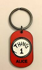 """UNIVERSAIL STUDIOS Dr Suess """"ALICE"""" THING 1 & THING 2 Spinner Key Chain New"""