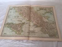 Vintage Italy The Map CENTURY DICTIONARY AND CYCLOPEDIA 1906 20125 Central South