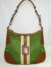 AUTHENTIC PRADA  OLIVE GREEN/ BROWN SHOULDER BAG