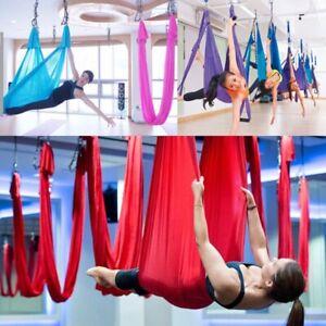 Yoga Hammock Swing Trapeze Sling Aerial Silks Anti-gravity Inversion Home Gym