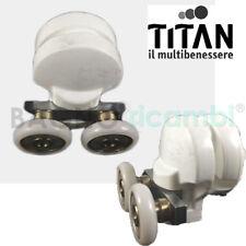Ricambio gruppo ruota completo per cabina doccia curva Titan q33458p