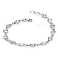 14k White Gold Polished Link Bracelet - SKU #86736