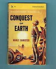 MANLY BANISTER pb Conquest of Earth vintage