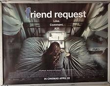 Cinema Poster: FRIEND REQUEST 2016 (Quad) Alycia Debnam-Carey William Moseley