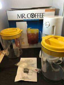 3 Quart Iced Tea Pot Mr. Coffee Brewer Maker TM3.5 Sugar Scoop 2 Pitchers