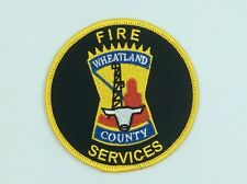 """Vintage Wheatland County Alberta Canada Fire Services 4"""" Embroidered Patch"""