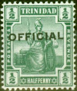 Trinidad 1910 1/2d Green SG010 Fine Very Lightly Mtd Mint