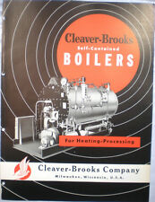 Cleaver Brooks Catalog Boiler Heating Units Heaters Asbestos History 1950's