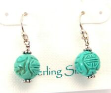 Sterling Silver Turquoise Earrings French Ear Wires Handmade in USA Brand New