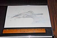 Shelton Bryant Silver Surfer Watercolor Mixed Media Original Comic Art Painting