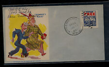 US  WWII partraotic cover with private stamp on cover         MM0407