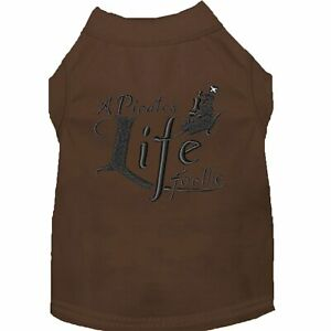 Mirage Pet Products A Pirate's Life Embroidered Dog Shirt Brown Lg (14)