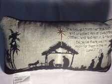 Oholy Night Tapestry Throw Pillow Word Afghan Word Throw Pillow