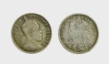 s595_5) MENELIK 1 GERSH  Etiopia - Ethiopia  Silver