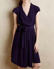 NEW Anthropologie Noronha Wrap Dress SMALL MEDIUM Runs Big Purple Women's