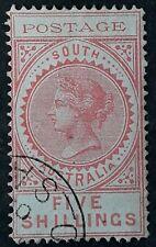 1902 South Australia 5/- Rose Thin Postage Type CTO cancel