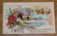Antique Advertising Trade Card - H.S. Drake - Stroudsburg PA - White Sewing Mach