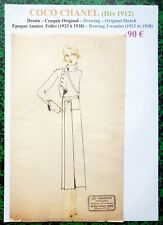 CHANEL Very Rare Original Scketch with Chinese Ink - Roaries Twenties - # 121