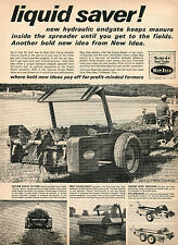 1964 Print Ad of New Idea Farm Tractor Manure Spreaders Coldwater Oh