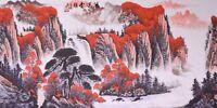 ORIGINAL ASIAN FINE ART CHINESE SANSUI WATERCOLOR PAINTING-Fortune Landscape