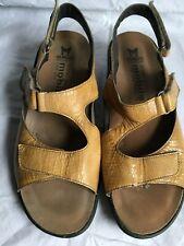 d5fd8c43707 Mephisto Mobils Sandals Mustard Snake Print Leather France Size US 10 EUR 40