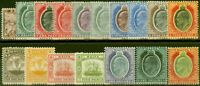 Malta 1904-14 set of 17 SG45-63 Fine & Fresh Mtd Mint