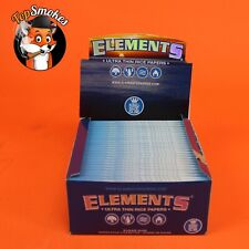 50 Pack 1 Box Elements King Size Slim Rolling Paper Ultra Thin Rice USA Bulk