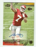 AARON MURRAY 2014 TOPPS PRIME GOLD RC ROOKIE AUTO AUTOGRAPH /75 CHIEFS