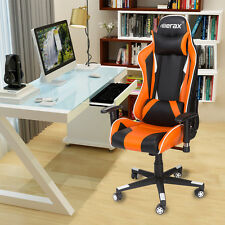 Merax Racing Gaming Style High Back PU Leather Race Car Seat Office Chair Orange
