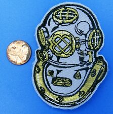 "Patch vtg Diver Helmet Standard Diving Dress Hard Hat Copper Hat Scuba 3"""
