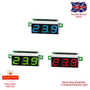0.28 Inch 2.5V - 30V Mini Digital Voltmeter Voltage Tester Meter. 4 Colours.