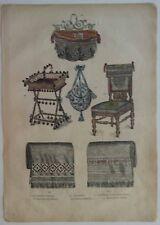 Planche 14 Tirée du Livre Paris Charmant 1882 Mode Corbeille à ouvrage